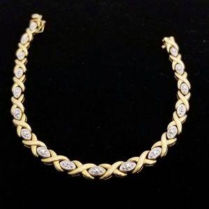 Jewelry - Xo gold/silver CZ tennis bracelet